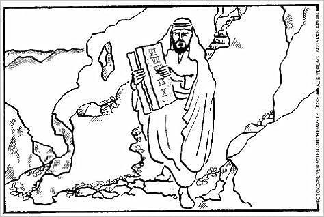 Malbilder Zur Bibel Mose 24 Ausmalbilder In Einer Mappe Amazon