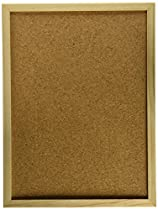 Darice 9172-63 Wood Framed Cork Memo Board with Push Pins, 12 by 16