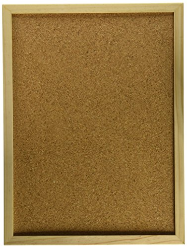 Darice 12 by 16 inch, Wood Framed Cork Memo Board with Push...