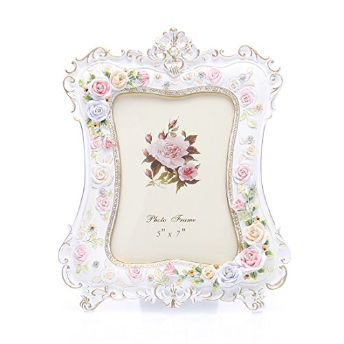 5x7 Inches Victorian Flower Decorated Picture Photo Frame for Home Decor by Zhenzan Frames