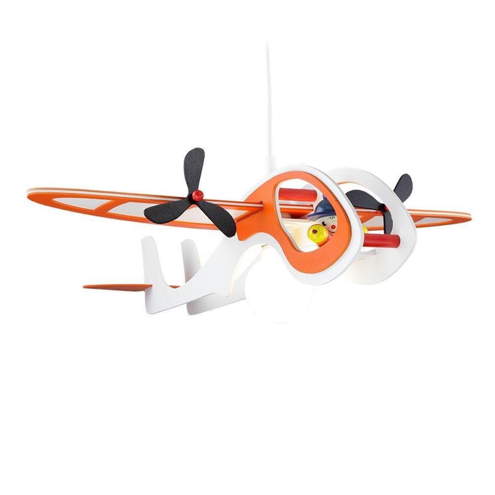 Flugzeug weiss-orange 1er Deckenlampe elobra 125557