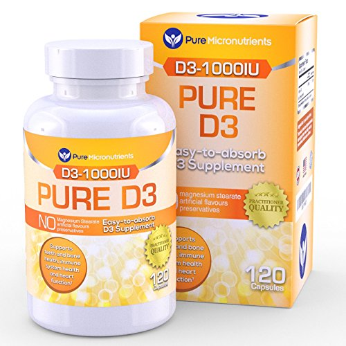 Suppléments de vitamine D3 1000IU, nombre de 120, naturel vitamine D, octanes (cholécalciférol)
