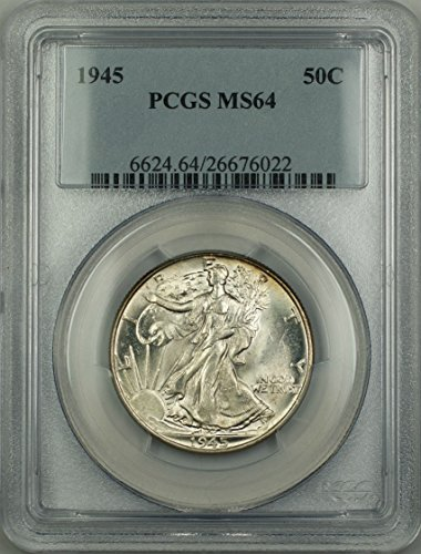 1945 No Mint Mark Walking Liberty Half Dollar Half Dollar PCGS MS-64
