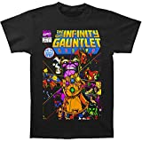 Marvel Thanos - Mens The Infinity Gauntlet Fitted T-Shirt  Size: Small  Color: Black