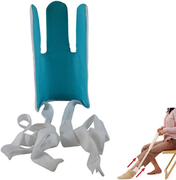 Sock Aid And Stocking Assist, Plástico Flexible Con Superficie De Resistencia Antideslizante Cubierta De Terry, Fácil Colocación Y Eliminación De Calcetines O Medias De Compresión