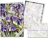 Wild Iris - Stationery Gift Set (20 sheets and 12 envelopes)