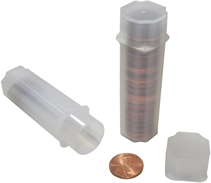 -#7881672 20 coins ea Box of 100 Guardhouse Square Coin Tubes for Large Dollar