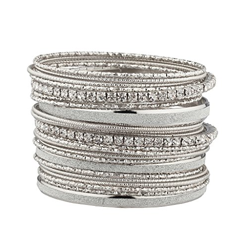 Lux Accessories Textured Multiple Bracelet product image