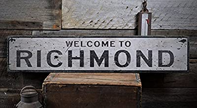 Welcome to RICHMOND - Custom RICHMOND, KENTUCKY US City, State Distressed Wooden Sign