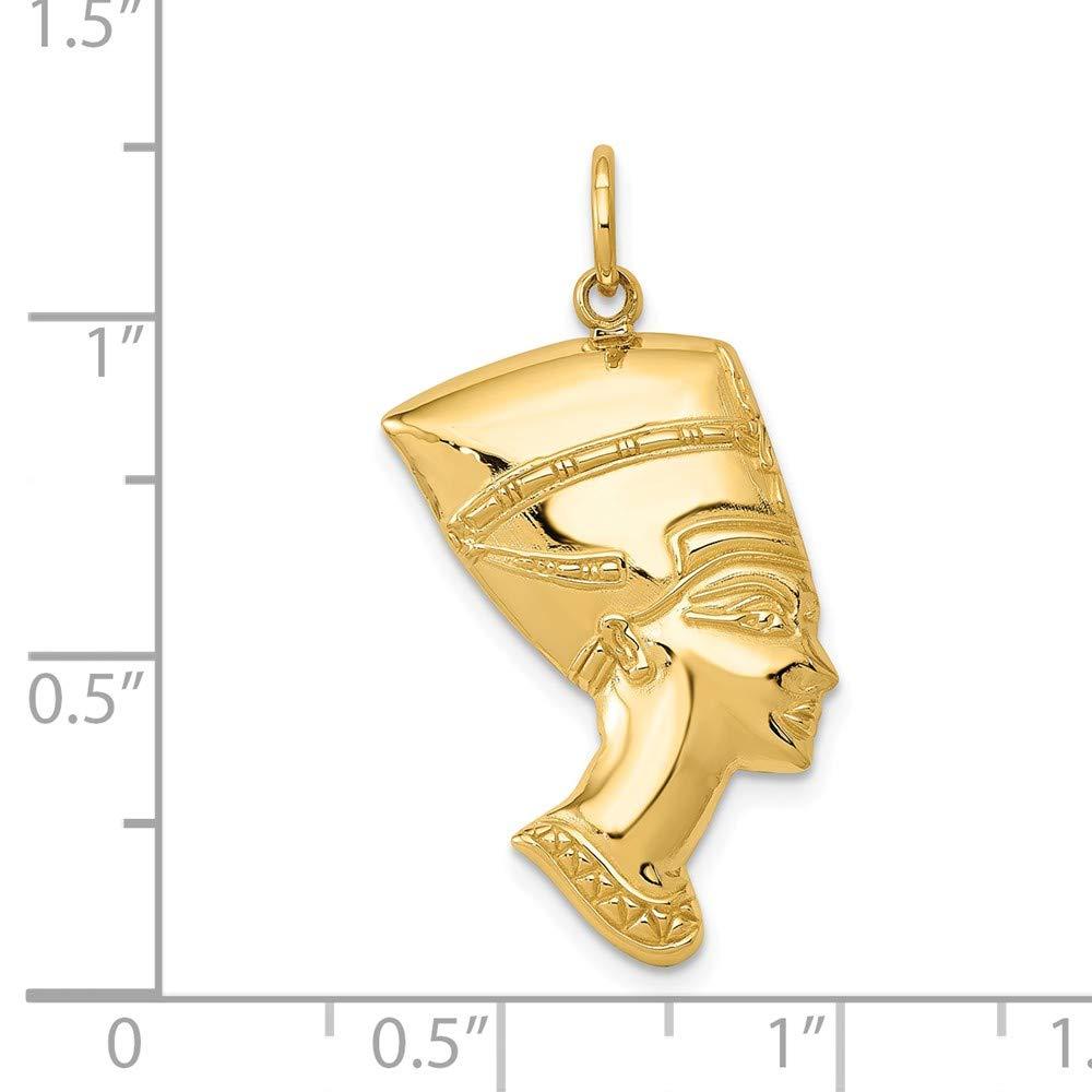 Real 14kt Yellow Gold Nefertiti Charm
