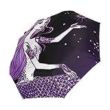 FVFV Dream Mermaid Star Automatic Foldable Umbrella UV Protection Auto Open Close Folding
