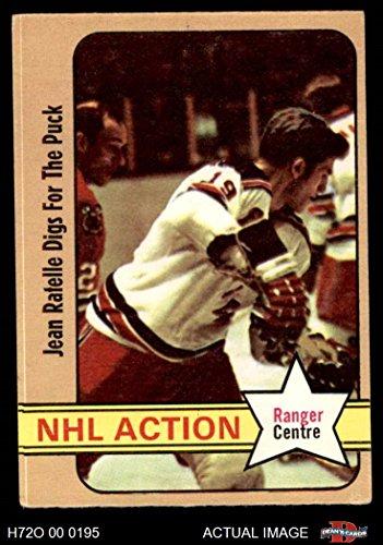 Cen Center - 1972 O-Pee-Chee # 48 CEN In Action Jean Ratelle Rangers-Hockey (Hockey Card) (Position is Centre) Dean's Cards 4 - VG/EX Rangers-Hockey