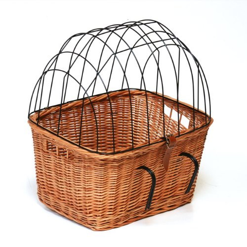 Wicker Pet Bicycle Basket (Pet Carrier for Bicycle)