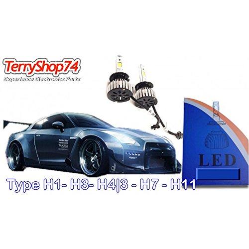 Fari a led kit H4-3 sostituzione lampade, nessuna centralina nessun montaggio solo lampade led terryshop74