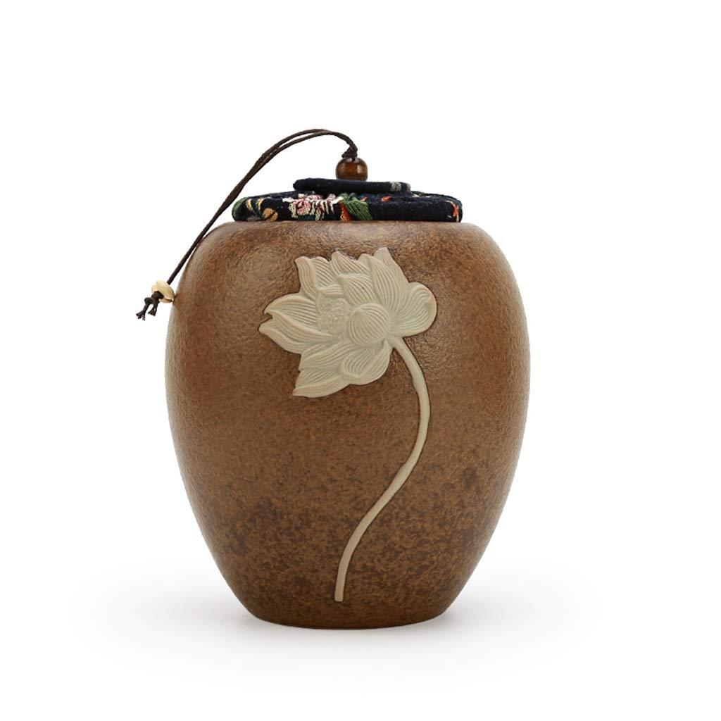 C Handmade Pet Cremation Urn,Dog Cat Funeral Urns for Pet Ashes Ceramic Exquisite Relief Medium & Large (color   C)