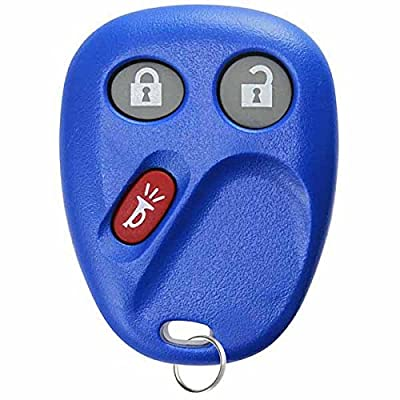 KeylessOption Replacement 3 Button Keyless Entry Remote Control Key Fob -Blue: Automotive