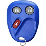 KeylessOption Keyless Entry Remote Control Car Key Fob Replacement for LHJ011 - Blue