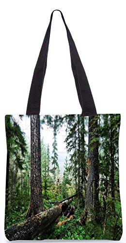 """Snoogg Abstrakt Gebrochen Baum Tragetasche 13,5 X 15 In """"Shopping-Dienstprogramm Tragetasche Aus Polyester Canvas"""