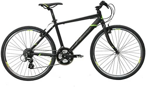 Upland Cross City Bike Ls360 Men Medium Black,alloy Frame and Fork, Double V Brake, City Bike, Road Bike, City Style Handlebar, Easy for Ride, Speicalized Wheel Sets for City Bike, 24 Speed,shimano Speed Control System, Cycling Road Bike,bicycle,from Golden Wheel