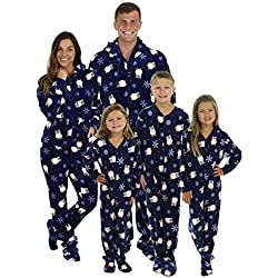 SleepytimePjs Family Matching Navy Penguin Onesie PJs Footed Pajamas – (STM17-3019-W-SML)