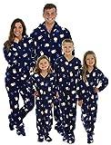 SleepytimePjs Family Matching Navy Penguin Onesie PJs Footed Pajamas – (STM17-3019-K-4T)