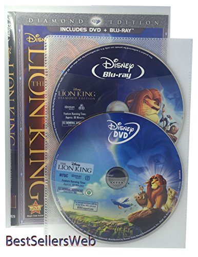 BestSellersWeb 50 Pack Movie Sleeves With Clear CPP Plastic & 2 Disc Non-Woven - Sleeves Movie Dvd