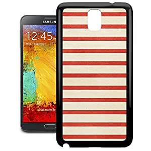 Bumper Phone Case For Samsung Galaxy Note 3 - Red Stripes Protective Designer