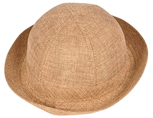 Rhode Island Novelty Kids Child Cloth Light Brown Safari Explorer Costume Accessory Pith Helmet Hat