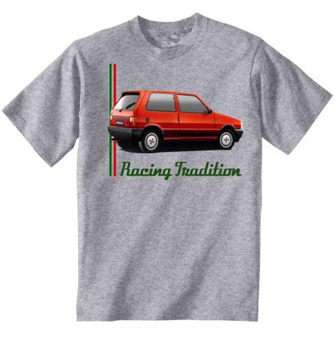 TEESANDENGINES FIAT UNO TURBO IE INSPIRED Camiseta Gris para hombre de algodon Size XXXLarge