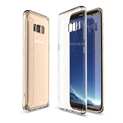 Samsung Galaxy S8 VIII Clear Case Case Army Scratch Resistant Worlds Thinnest Ultra Flexible Case Soft Silicone Cover with TPU Bumper Limited