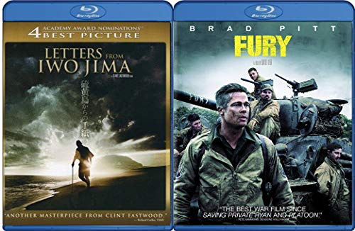 Euro Japan War Fury Brad Pitt + Clint Eastwood Epic Film Letters From Iwo Jima Movie Collection Double Feature ()