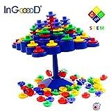 Balance Board Game Set - InGooood Stacking Games Family Activity Desktop Game Topple Puzzles Development IQ Balance Toys For Children
