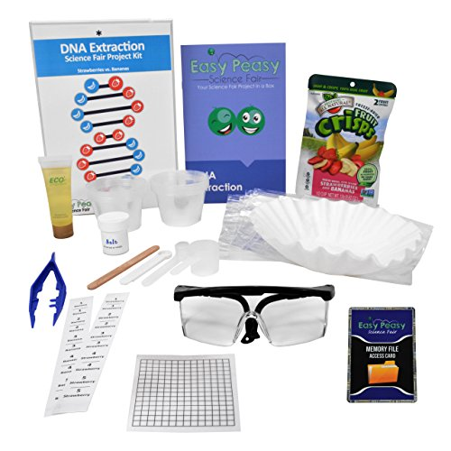 (Easy Peasy Science Fair DNA Extraction Kit Project Kit -Top Science Learning)