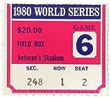 1980 World Series Game 6 Field Box Ticket Stub Phillies vs Royals