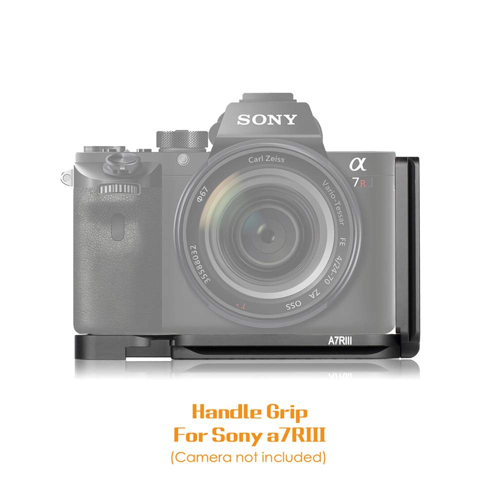 Quick Release L-Bracket Plate Camera Grip For Sony A7R III A7III