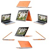 """mCover Hard Shell Case for 13.3"""" Dell Inspiron 13 7000 Series ( 7347 / 7348 / 7359 only) (**Not for 7368/7559**) 2-in-1 Convertible Laptop (Orange)"""