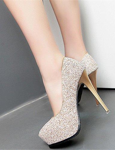 GGX/ Damen-High Heels-Kleid / Party & Festivität-Kunstleder-Stöckelabsatz-Absätze-Schwarz / Weiß / Silber / Gold golden-us6 / eu36 / uk4 / cn36