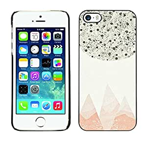 Paccase / SLIM PC / Aliminium Casa Carcasa Funda Case Cover para - Abstract Pastel Mountains Stars Sky - Apple Iphone 5 / 5S
