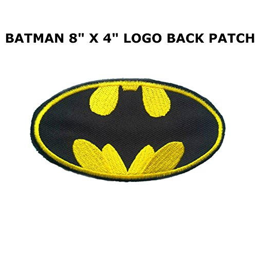 "Blue Heron DC Comics Batman Logo 8"" X 4"" Embroidered X-Large Iron/Sew-on Applique Back Patch"