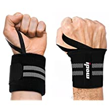 Ipow Adjustable Weight Lifting Training Wrist Straps Support Braces Wraps Belt Protector for Weightlifting Crossfit Powerlifting Bodybuilding - For Women and Men,set of 2