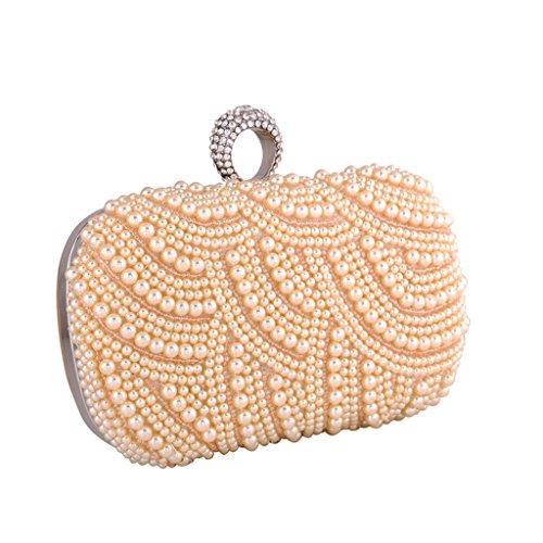 BigForest package Mariage sac de sac Femme soir¨¦e Diamond white carr¨¦ de la de Perle Rings Champine rwr0OPq
