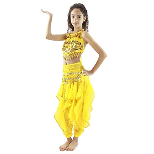 d711bc6dc049 Amazon.com  Pepper 5-Piece Children Belly Dance Costume  Clothing
