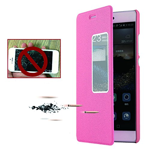 Huawei Portafoglio Pelle Rose Protettiva Case Bookstyle Magnetica Con In Stand Pu Gold Chiusa Custodia Per Flip P8 2017 Cover XrYxqHFwr
