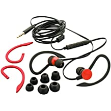 Auvio Sports Clip With Mic Headphones Red Unisex Adult One Size