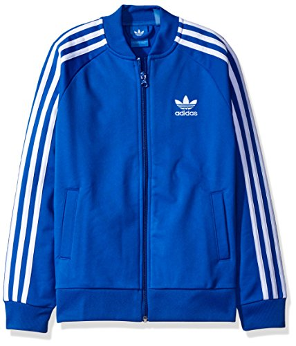 adidas Originals Tops Big Boys' Superstar Track, Blue/White, X-Small
