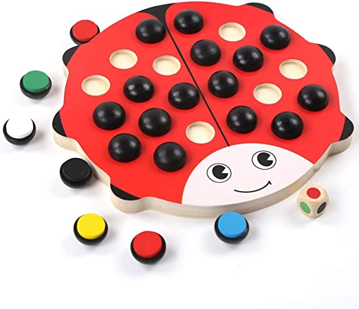 Juguetes De Madera Juegos De Memoria De Madera para Niños - Juegos De Mesa Familiares para Niños Y Adultos: Amazon.es: Hogar
