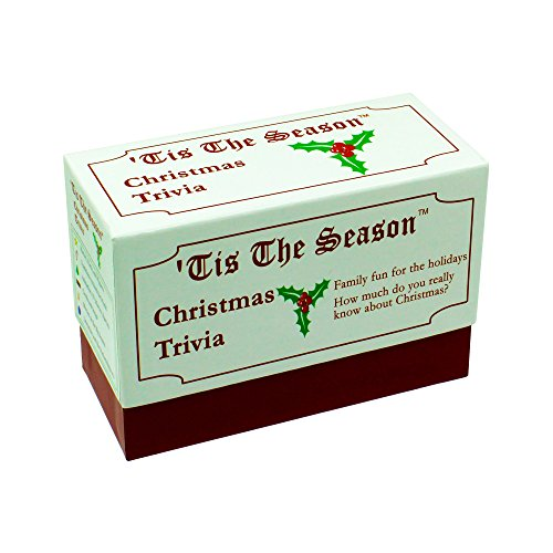 Anton Publications Tis The Season Christmas Trivia Game - The Classic and Original - Featuring Christmas Trivia Cards & Questions That Make For Great Holiday Games For The Entire Family (1 Pack) by Anton Publications