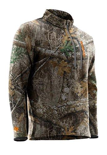 Moose Hunting Gear - Nomad Slaysman 1/4 Zip Camo Hunting Sweater N1300016 (Realtree Edge, Large)