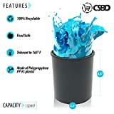CSBD Empty Paint Can with Plastic Lid, Gallon and