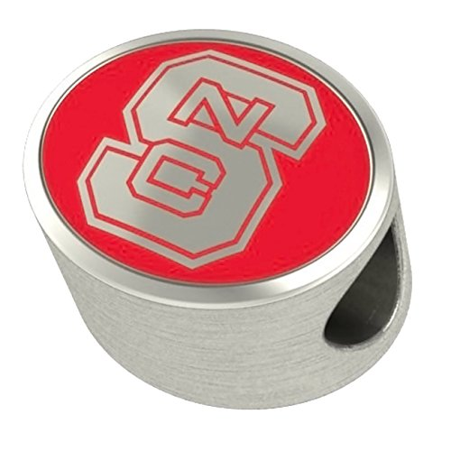 (North Carolina State University Wolfpack Charms Fit Most European Style Bead Charm Bracelets)
